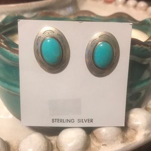 NWT sterling silver and turquoise earrings